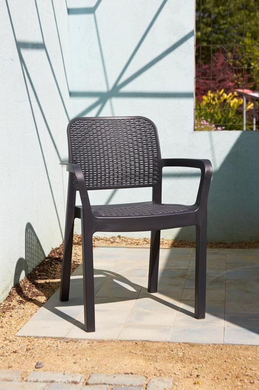 Садовий стілець Keter Samanna Коричневий (216923) - фото 2