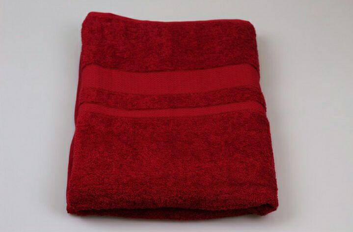Простынь махровая АИША 150х200 Бордовый - фото 1