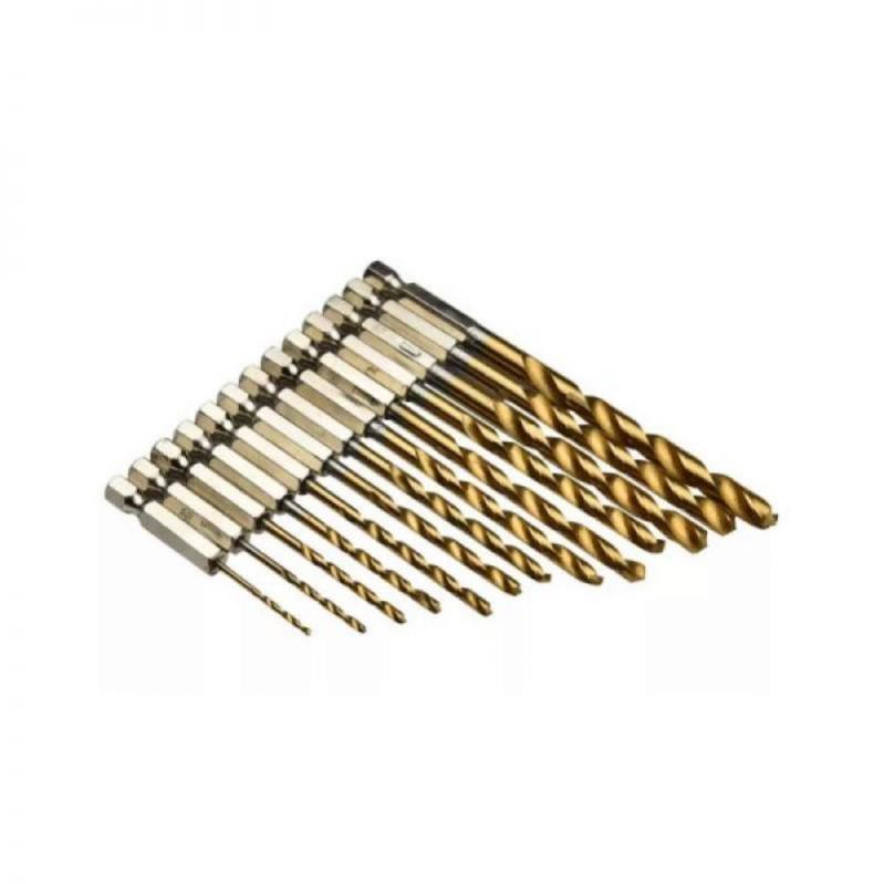 Набор сверл для шуруповерта 1,5 - 6,5 мм 13 шт (14111942015) - фото 1