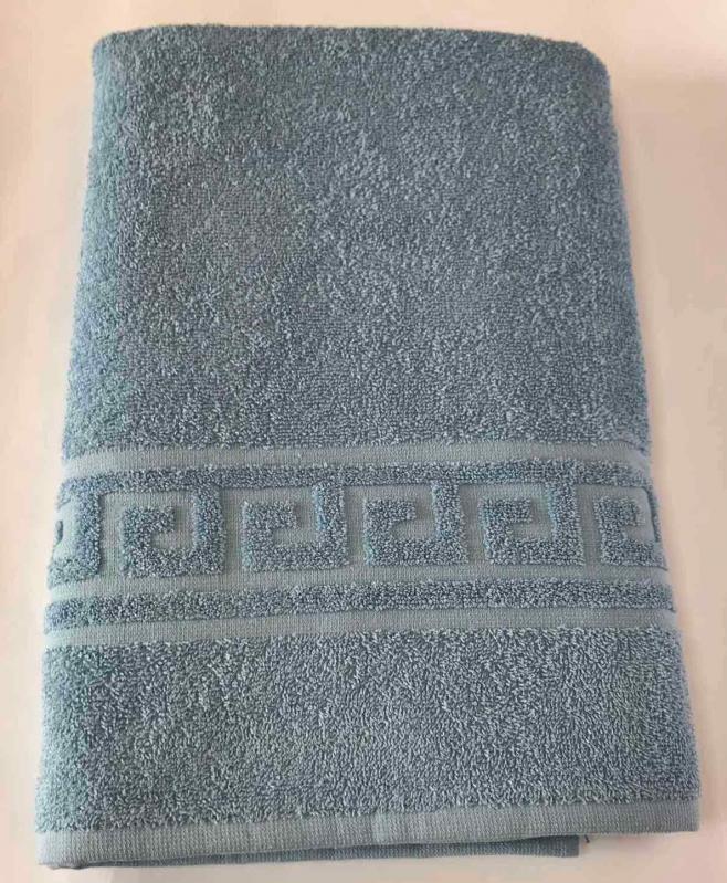 Набор полотенец с орнаментом 2 шт. Голубой (50х90 см/70х140 см) - фото 2