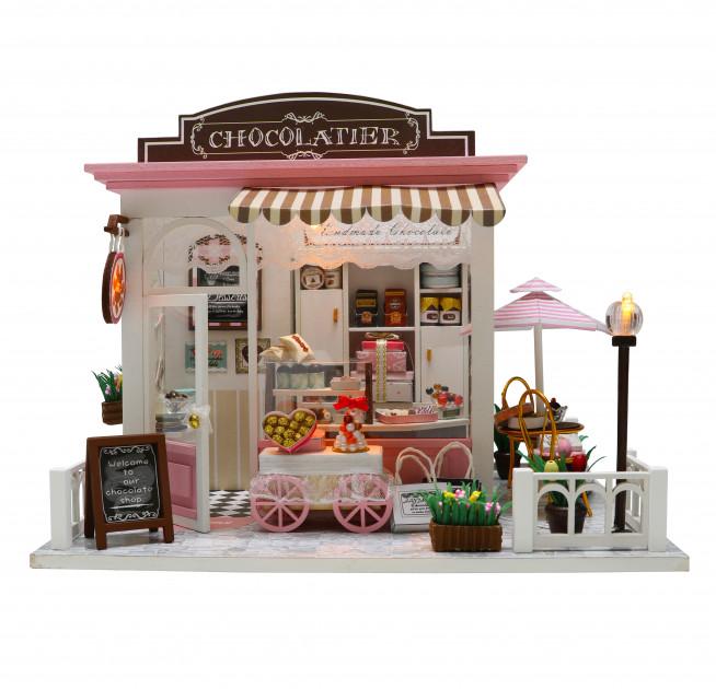 3D Румбокс CuteBee DIY DollHouse Шоколадниця (V358SD) - фото 9