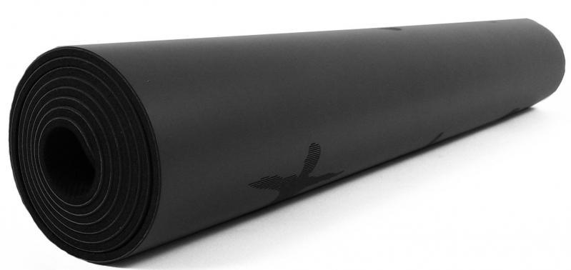 Килимок для йоги EasyFit каучук 5 мм Чорний (EF-RB5BK) - фото 3