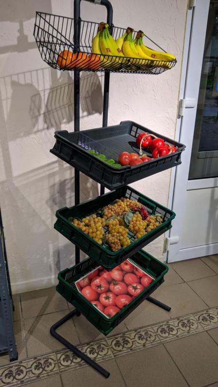 Овочевий стелаж компактний H170/L60/D40 cm Графіт - фото 3