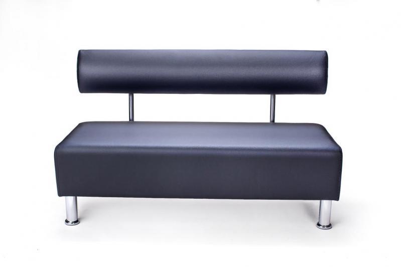 Диван прямий офісний BNB Mini 120 см Чорний - фото 1
