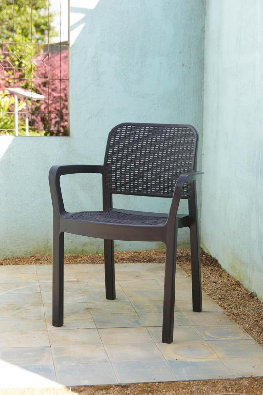 Садовий стілець Keter Samanna Коричневий (216923) - фото 3