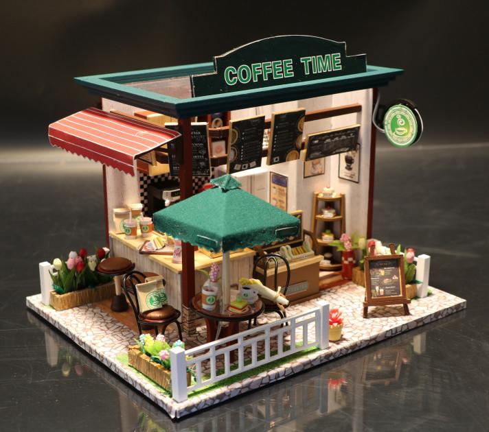 3D Румбокс CuteBee Coffee Time DIY DollHouse Кафе (V356SD) - фото 11