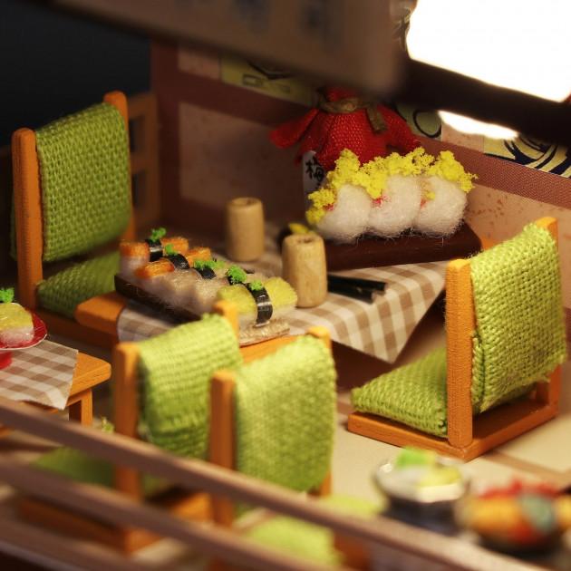 3D Румбокс CuteBee DIY DollHouse Суші-ресторан (G306) - фото 6
