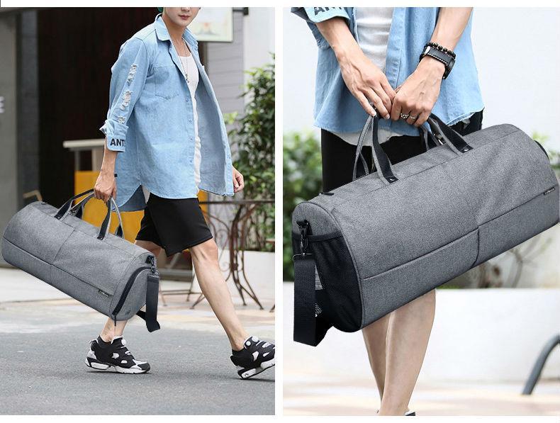 Спортивна сумка TuGuan 1698 з відділом для взуття Сірий - фото 6