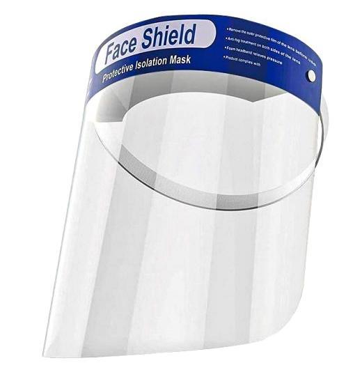 Защитный щиток экран для лица Face Shield 33х22см Прозрачный - фото 1