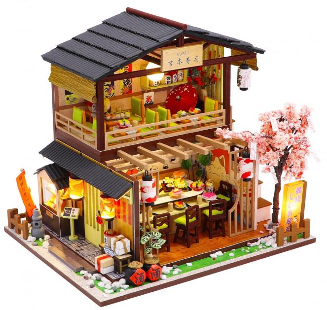 3D Румбокс CuteBee DIY DollHouse Суші-ресторан (G306) - фото 1