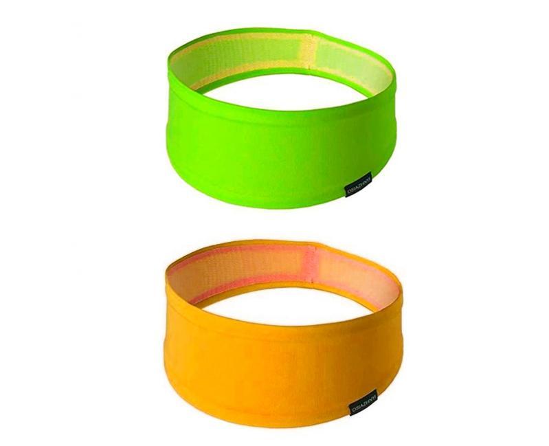 Набор спортивных повязок OSIAZHNYI 2 шт. Оранжевый/Зеленый - фото 1