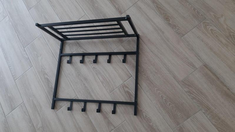 Вешалка настенная Н2-60 см металлическая Черный - фото 2