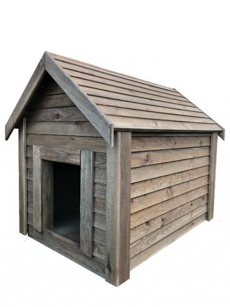 Будка для собаки DogHouse Palisandr дерев'яна утеплена середня (01-002) - фото 3
