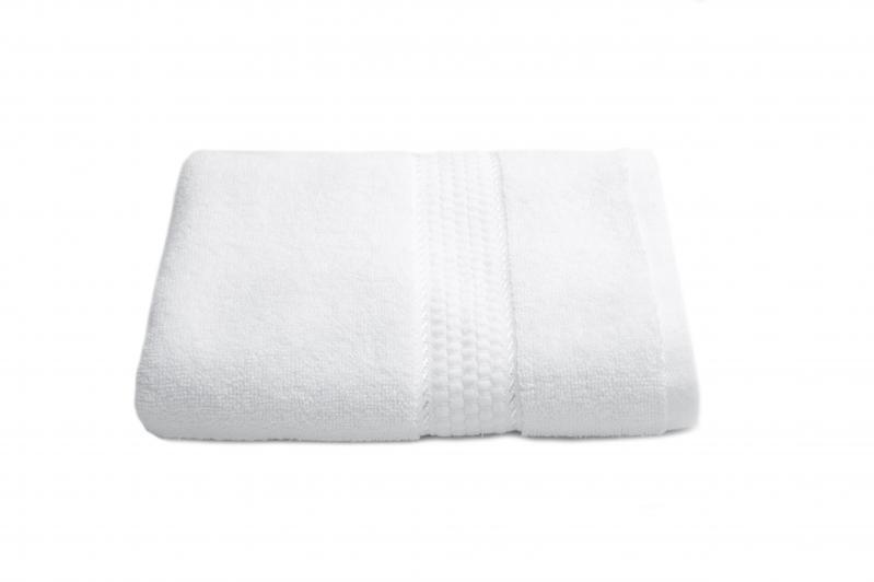 Комплект белых полотенец 2шт. (50х90 см/70х140 см) - фото 2