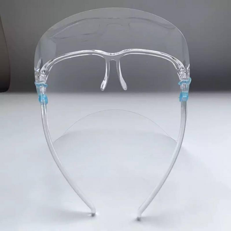 Защитный экран щиток с очками Face Shield glasses прозрачный для лица - фото 7