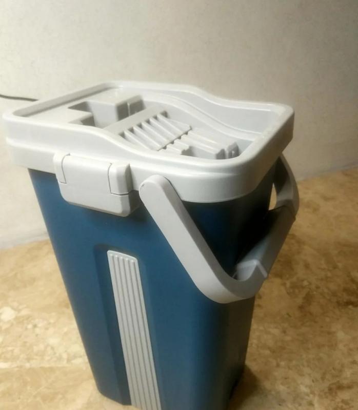 Швабра і відро з автовіджимом Scratch Cleaning Mop Original Синій - фото 3