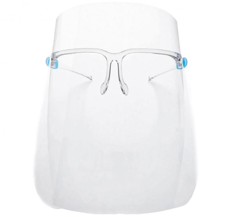 Защитный щиток для лица Face Shield Glasses со сложными скобками 165х195 мм Прозрачный 5 шт - фото 4