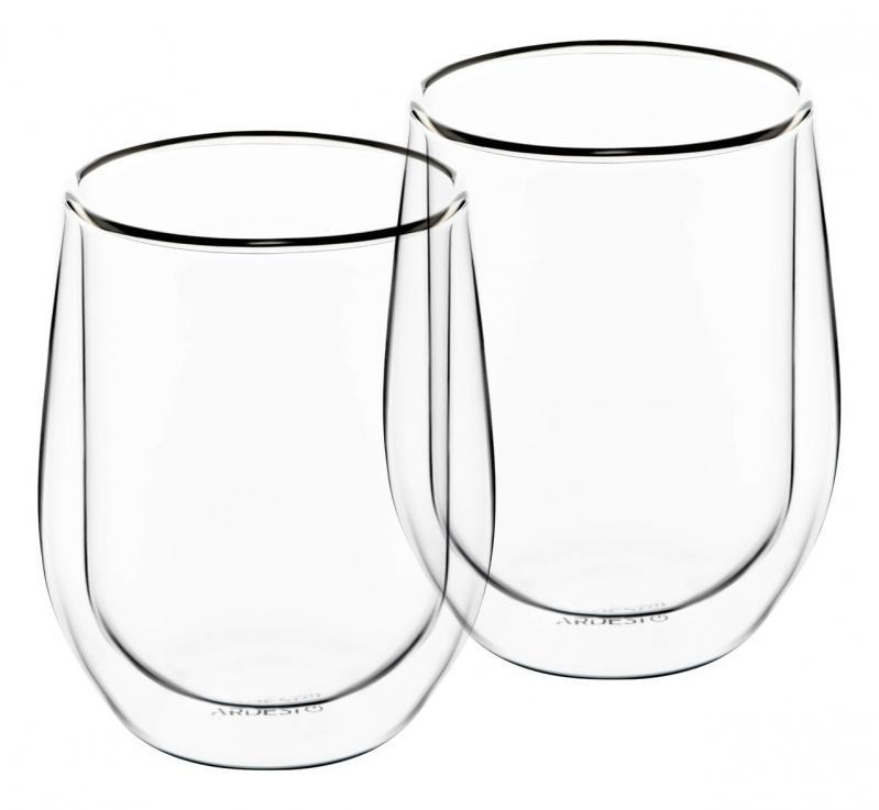 Набор чашек для латте Ardesto с двойными стенками стекло 250 мл 2 шт. (AR2625G) - фото 1