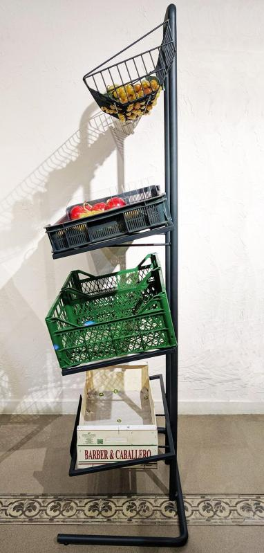 Овочевий стелаж компактний H170/L60/D40 cm Графіт - фото 4
