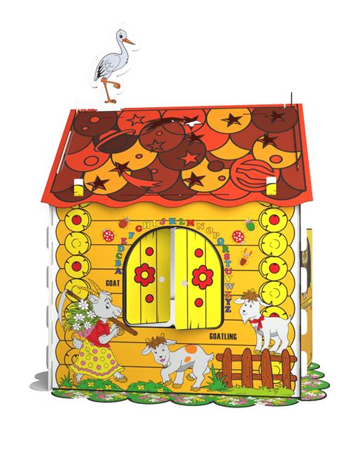 Дитячий картонний будиночок розмальовка Kindom 110х98 см - фото 1