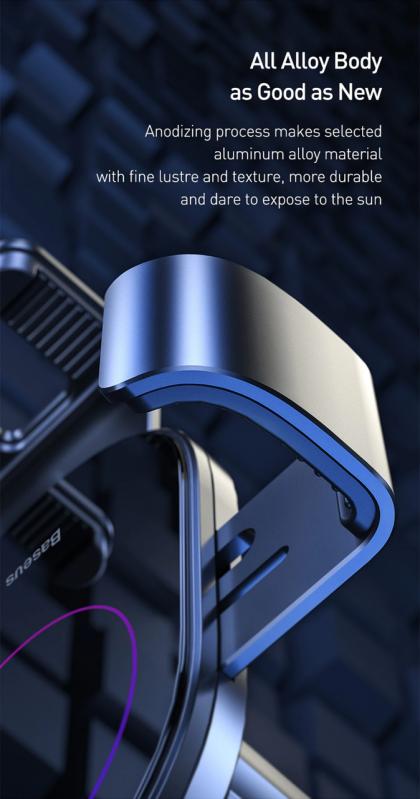 Тримач для телефону Baseus Simplism gravity car mount в машину Black - фото 7
