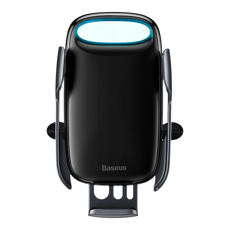 Автомобільний тримач Baseus Milky Way Electric Bracket Wireless Charger 15W Black - фото 4