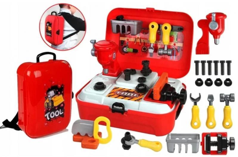 Ігровий дитячий набір інструментів Toy Tool Toy на 25 предметів в портативному рюкзаку (V152) - фото 2