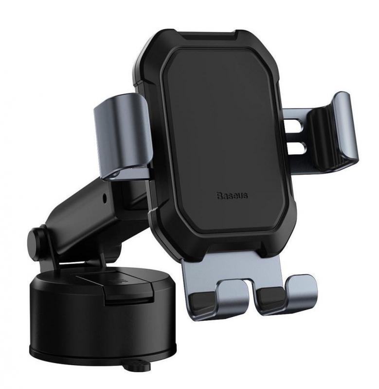 Тримач для мобільного телефона Baseus Tank gravity car mount holder з присоскою Чорний (SUYL-TK01) - фото 1