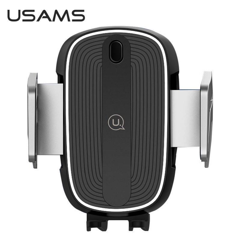 Автомобільний тримач на дефлектор з бездротовою зарядкою QI для телефона, смартфона USAMS US-CD100 - фото 3