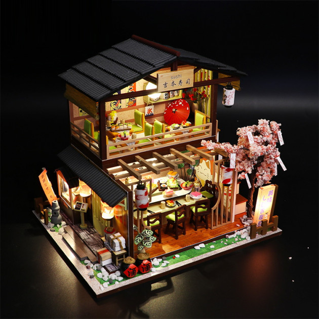 3D Румбокс CuteBee DIY DollHouse Суші-ресторан (G306) - фото 12