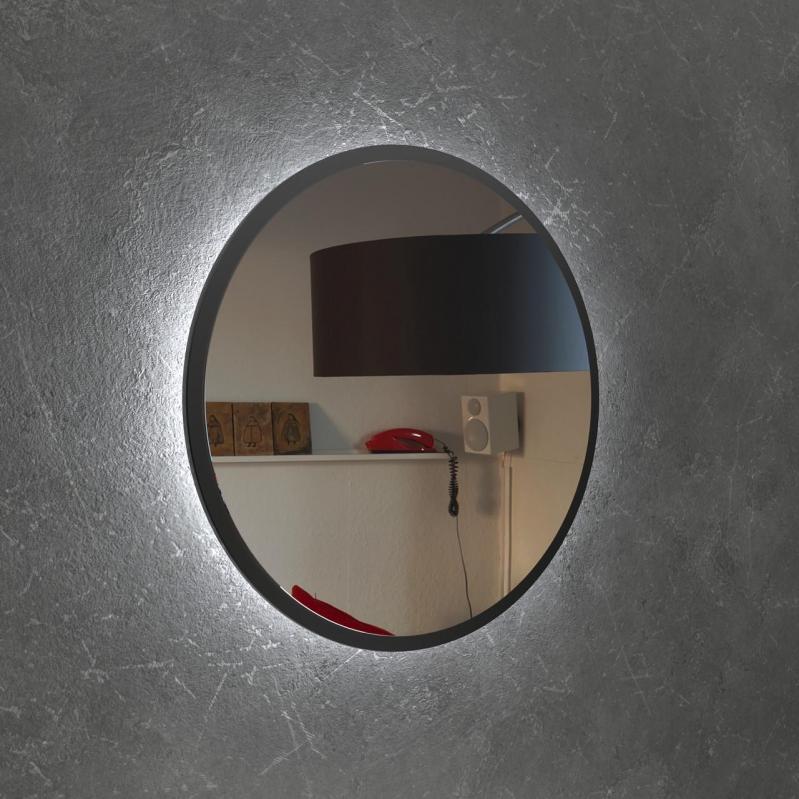 Круглое зеркало с Led подсветкой Art-Com 1000 мм Черный (ZL 2) - фото 1