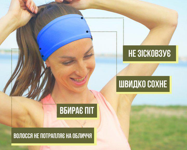 Набор спортивных повязок OSIAZHNYI 2 шт. Синий/Желтый - фото 6