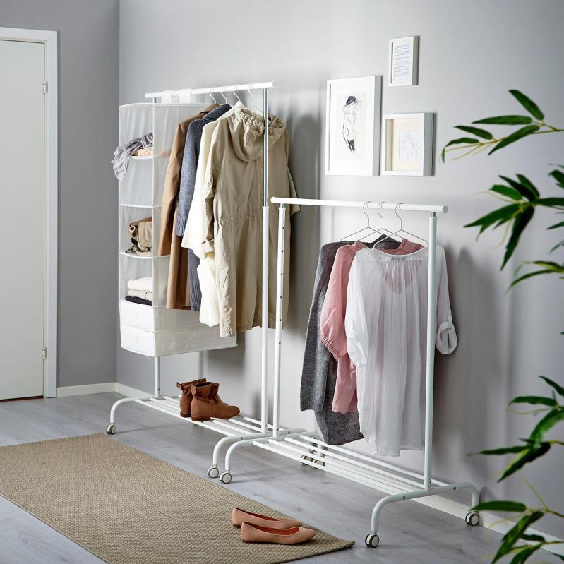 Стойка для одежды IKEA RIGGA 502.316.30 Белый - фото 4