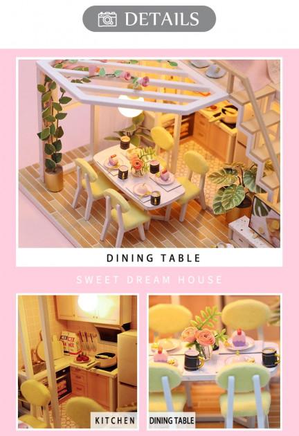3D Румбокс CuteBee Sweet Time DIY DollHouse (M2001) - фото 3