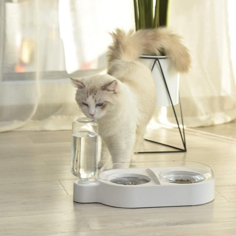 Миска для собак і кішок Els Pet з вбудованою поїлкою 500 мл Білий - фото 10