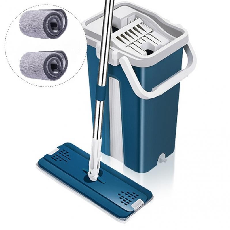 Швабра і відро з автовіджимом Scratch Cleaning Mop Original Синій - фото 1