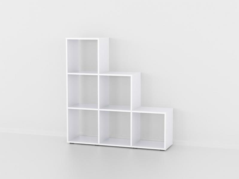Полка стеллаж Fanera Studio 6 секций 107х107х29 Белый - фото 1