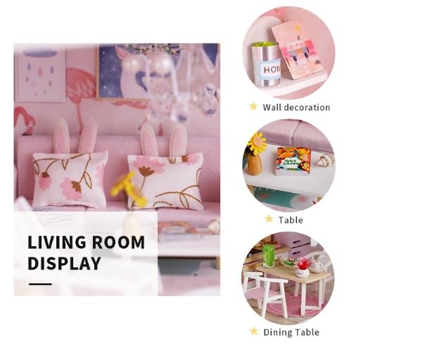 3D Румбокс CuteBee DIY DollHouse Перша любов (M915) - фото 10