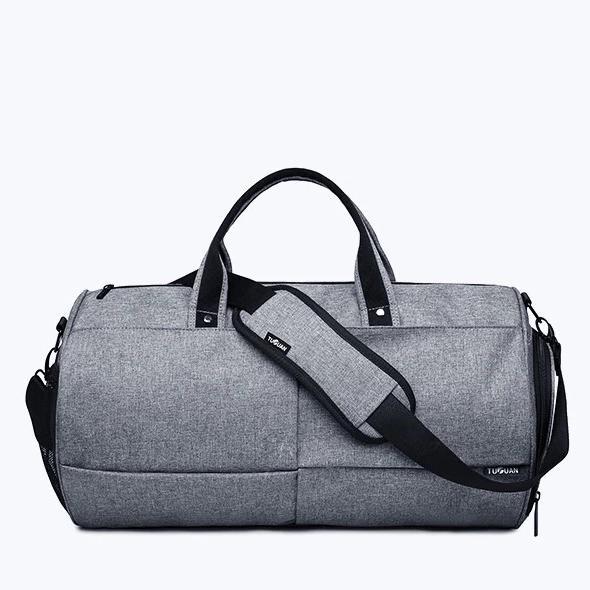 Спортивна сумка TuGuan 1698 з відділом для взуття Сірий - фото 2