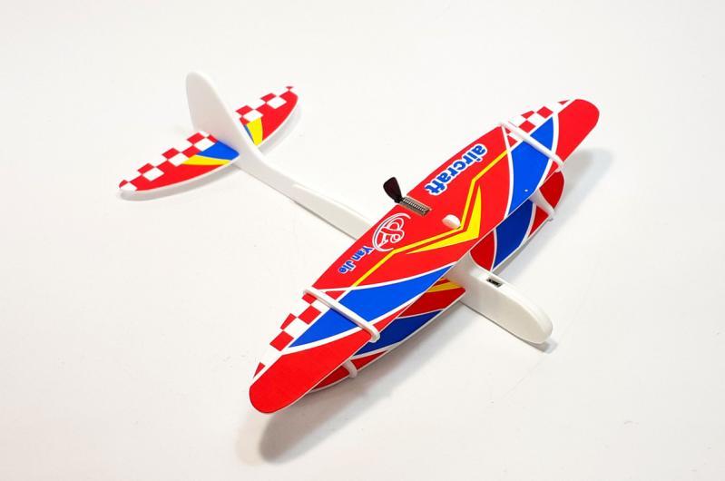 Літак з моторчиком Yan Jie Aircraft Біплан планер метальний - фото 2