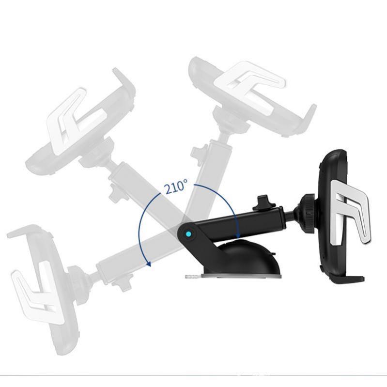 Тримач для телефону Usams US-CD101 Automatic Touch Induction з бездротовою зарядкою Black/Silver - фото 2