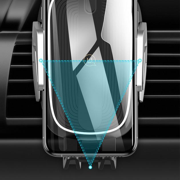 Автомобільний тримач на дефлектор з бездротовою зарядкою QI для телефона, смартфона USAMS US-CD100 - фото 5
