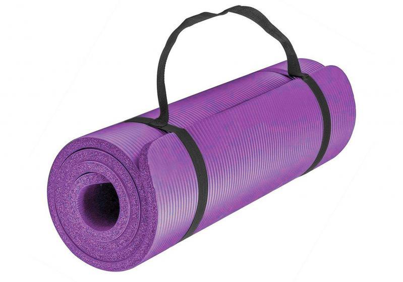 Килимок для йоги EasyFit NBR High-Density 10 мм Фіолетовий (EF-NK10V) - фото 1