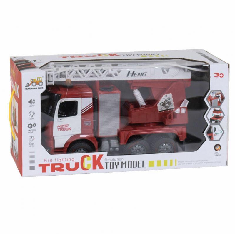 Пожежна машина Hengheng Toys зі світлом і звуком (009935) - фото 2