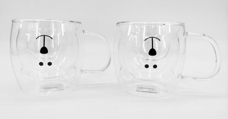 Набор чашек детских Ardesto Мишка c двойными стенками 2х250 мл (AR2625GHA) - фото 2