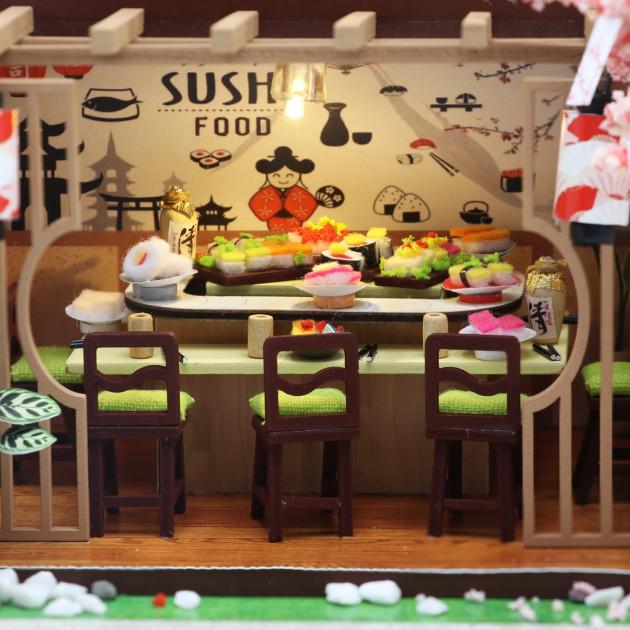 3D Румбокс CuteBee DIY DollHouse Суші-ресторан (G306) - фото 7