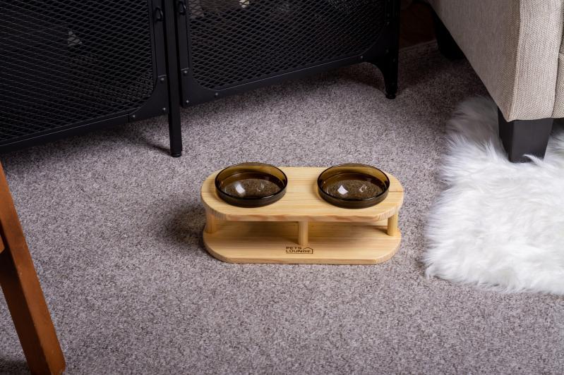 Підставка з мисками для собак і котів Pets Lounge Bowl 2х200 мл Black - фото 3
