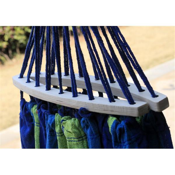 Гамак подвесной с каркасом и зонтом 240 х 100 Синий с зелёным - фото 3