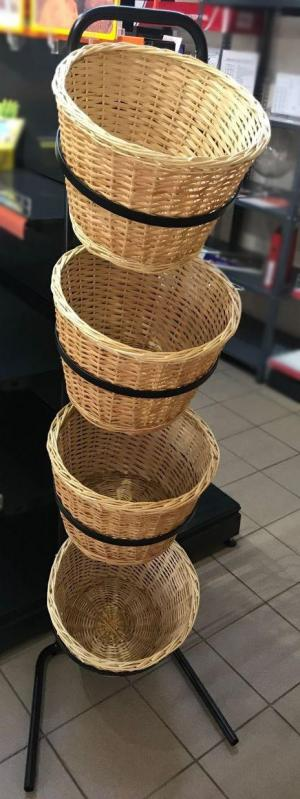 Стійка-стелаж з кошиками для продуктів - фото 2