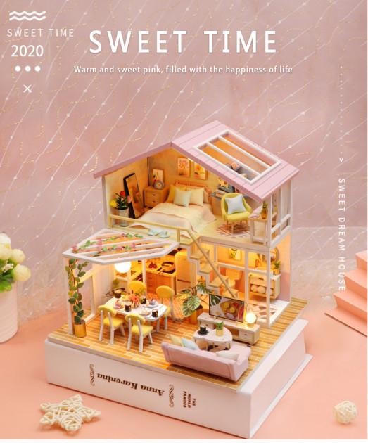 3D Румбокс CuteBee Sweet Time DIY DollHouse (M2001) - фото 6